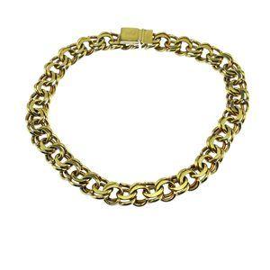 Coro Chunky Gold Chain Choker Necklace